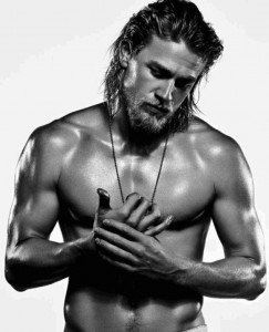 Well, this is the beautiful Charlie Hunnam (thank you for this fabulous picture) ... and for all of the pictures of Charlie, this one is perfect for Dan Davies.  It's exactly as I picture him ... although admittedly, he's usually wearing a shirt.