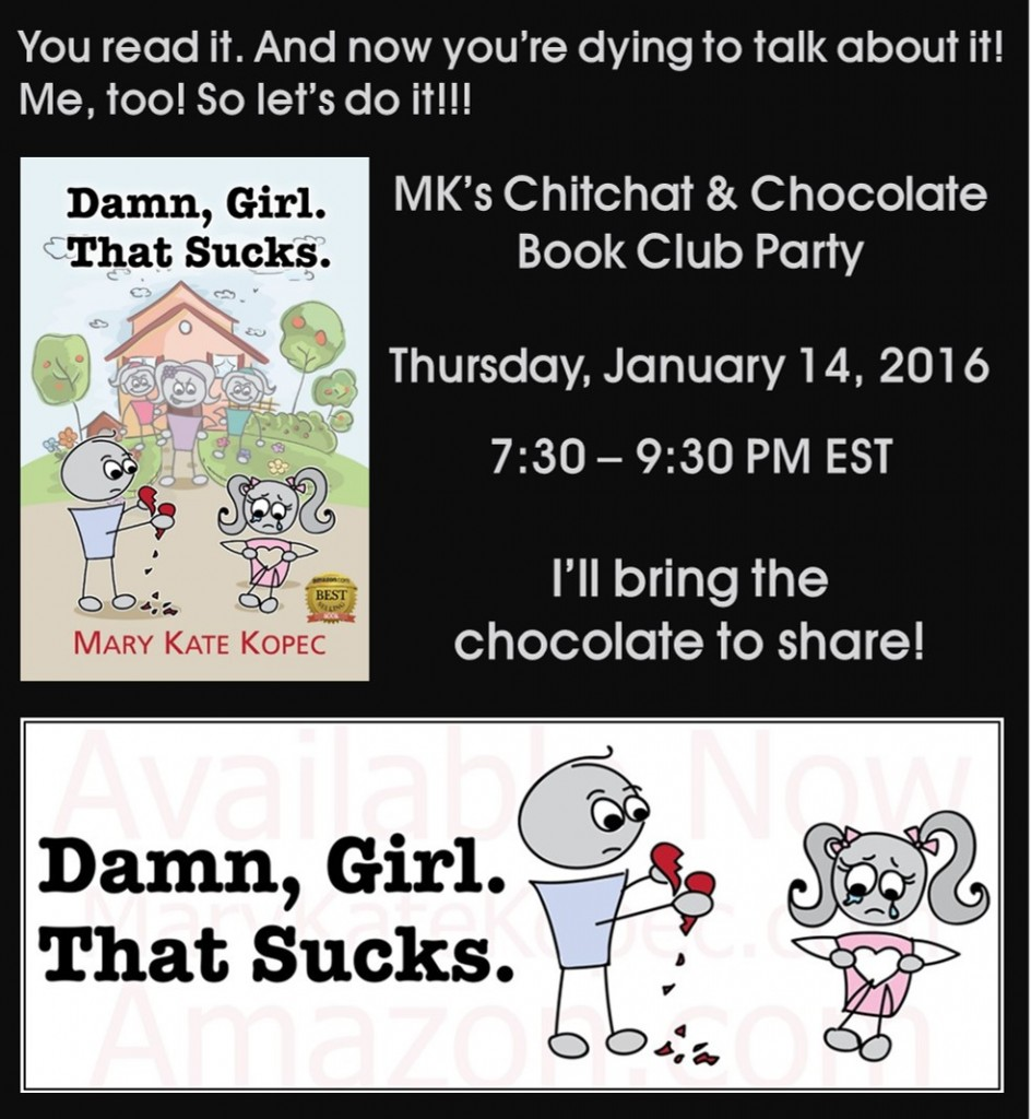 """Damn, Girl. That Sucks."" Book Club Party Invite"