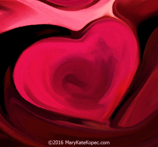 My heart art by Mary Kate Kopec