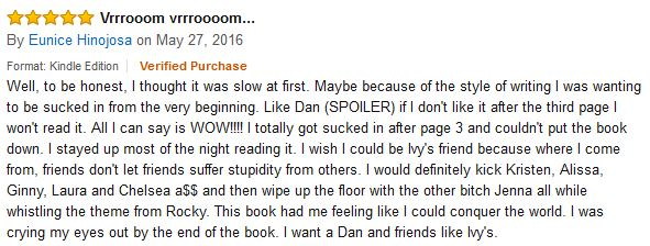 Amazon Review for Damn, Girl. That Sucks.