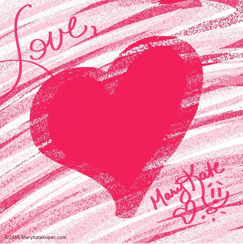 Mary Kate Kopec Art Heart