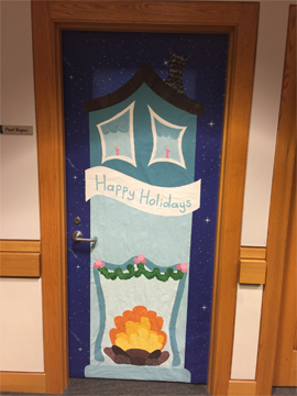 Holiday Door Decorating Contest? Challenge Accepted! Mary Kate Kopec. Love and Big Hugs.