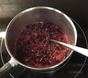 Recipe: Cherry Crumble a la mode. Gluten-free. Mary Kate Kopec. Love and Big Hugs.